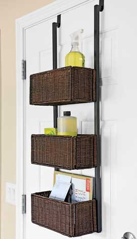 Small Room Ideas - Door Storage