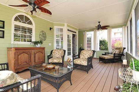 Home design ideas that will increase security and privacy - enclosed front porch